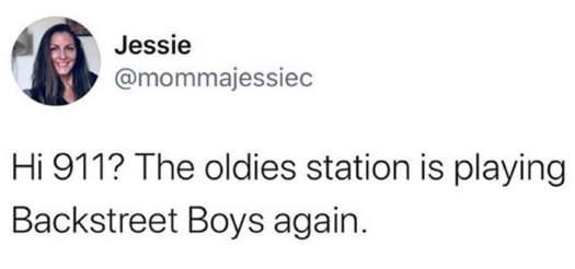 tweet jessie backstreet boys oldies 911