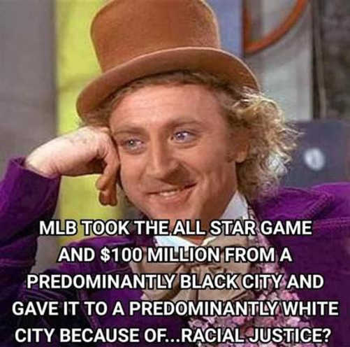 wonka took all star game 200 million black city white for racial justice