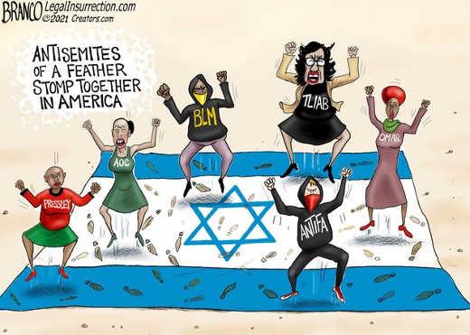 antisemites feather stomp together america tlaib omar aoc pressley blm antifa