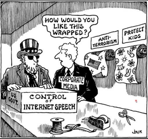 corporate media control speech protect kids