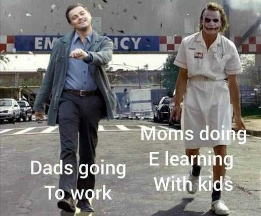 dads going to work vs moms elearning kids