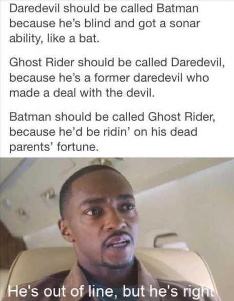 daredevil batman ghost rider mackey hes right