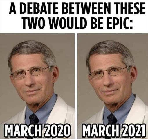 debate dr fauci march 2020 2021 debate epic