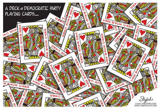 deck of democrat playing cards all race