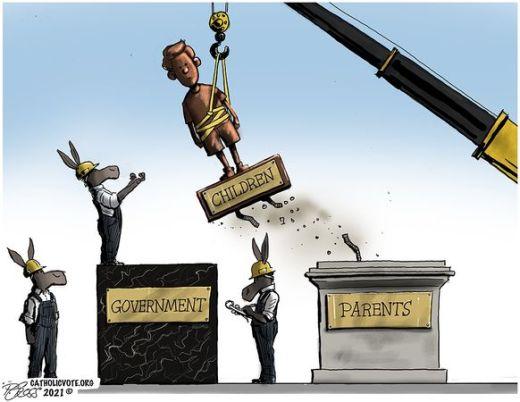 democrats children statue move parents to government