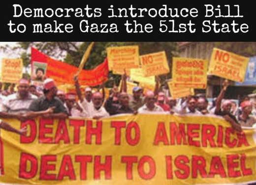 democrats introduce bill make gaza 51st state
