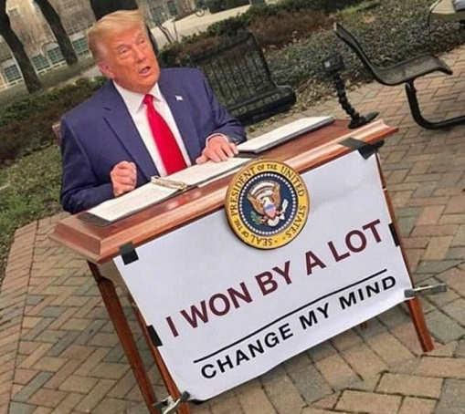 donald trump won by a lot change my mind