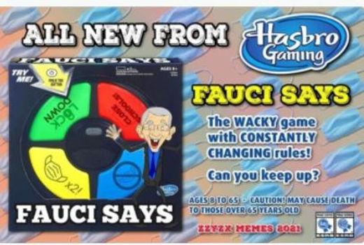 dr fauci all new simon says game hasbro