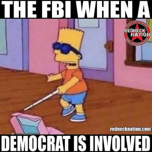fbi when democrat involved bart simpson sunglasses cane