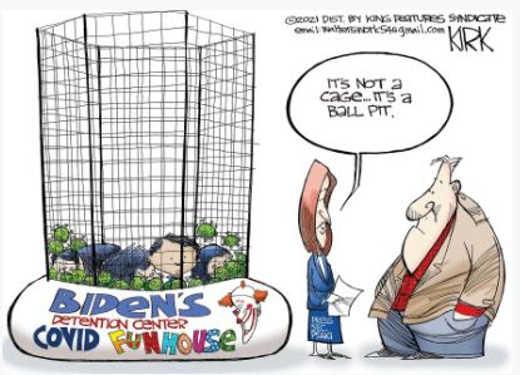 jen psaki kids not cages ball pit fun
