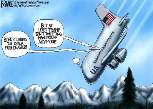 joe biden crashing usa plane no more mean tweets
