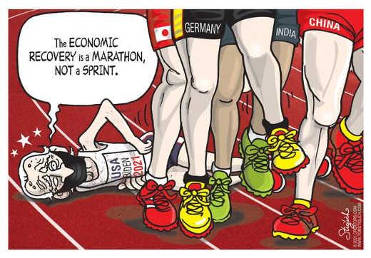joe biden economic recovery marathon not sprint germany india china walk over