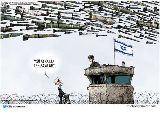 joe biden israel you should deescalate hamas rockets bunker