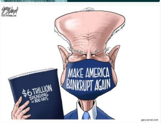 joe biden make america bankrupt again 6 trillion new spending 100 days