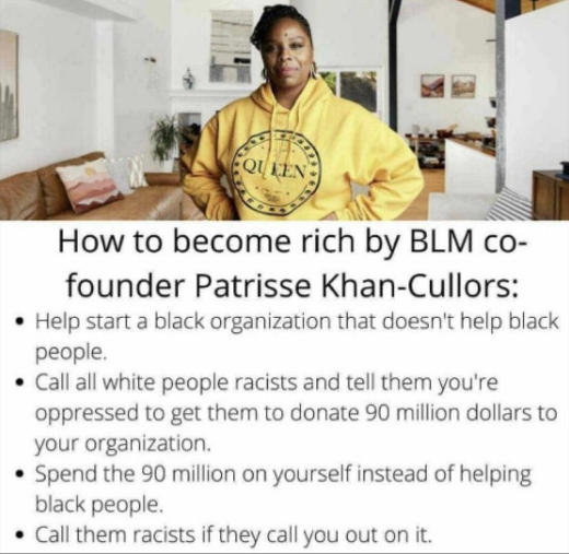 lesson how to become rich blm patrisse khan cullors racists