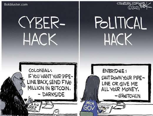 michigan whitmer political hack enbridge shutdown pipeline colonial