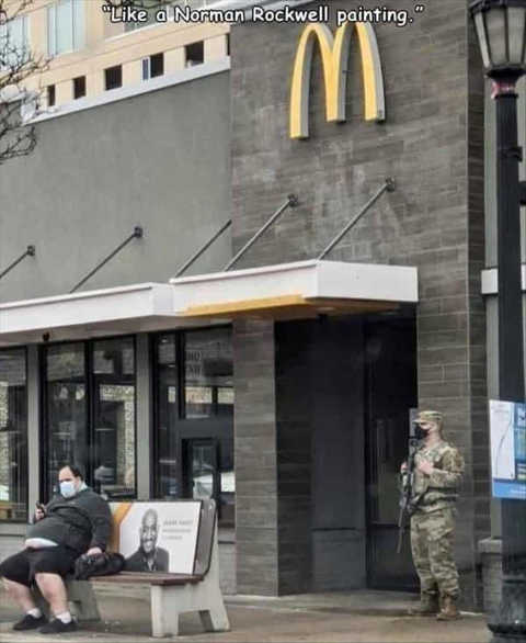 norman rockwell painting national guard mcdonalds