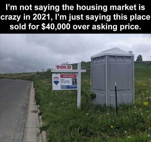 porta potty goes for 40000 over asking price