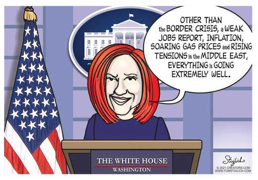 psaki other than border jobs middle east gas prices going well