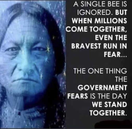 quote single bee ignored but millions bravest run fear stand together
