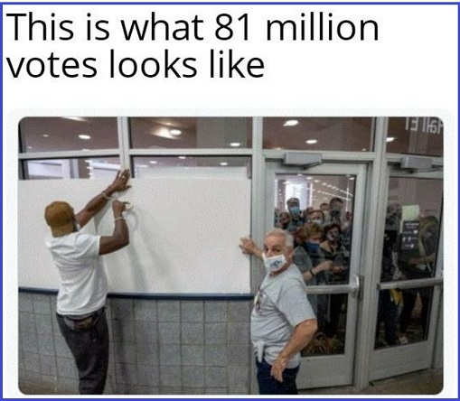 this is what 81 million votes joe biden looks like covering vote count