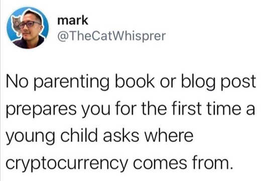 tweet mark no parenting book child cryptocurrency questions