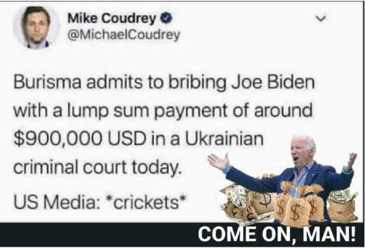 tweet mike coudrey burisma admits bribing joe biden media crickets