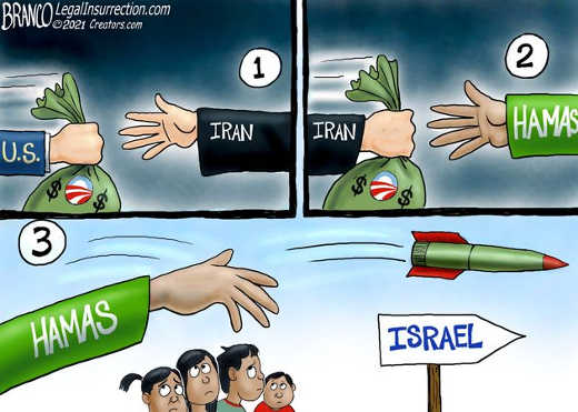 us money to iran to hamas rockets israel