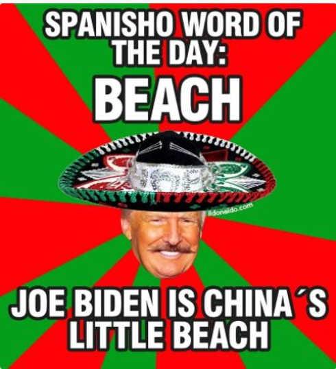 word of day joe biden chinas little beach trump