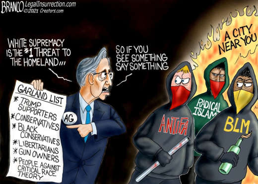 attorney general garland antifa blm radical islam white supremacy biggest threat