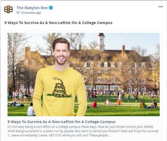 babylon bee lesson 9 ways survive non leftist on college campus