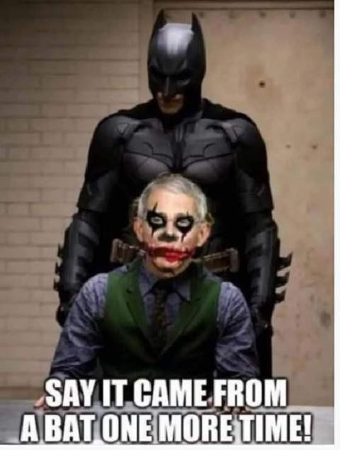 batman joker dr fauci say came from bat one more time