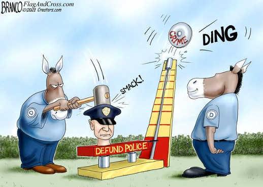 democrats defund police smack crime rises