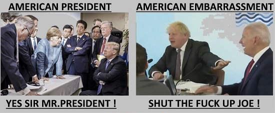 donald trump president yes sir joe biden shut up