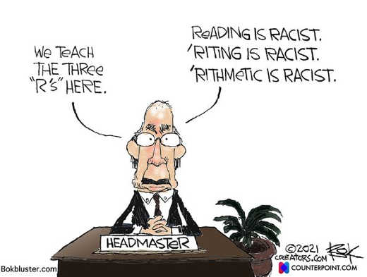education headmaster 3rs reading writing arithmetic racist