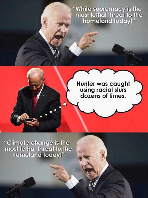 joe biden white supremacy hunter climate change