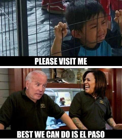 kids cages please visit border biden kamala best el paso