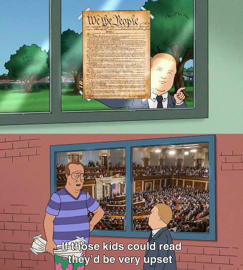 king of hill constitution imagine if dc could read
