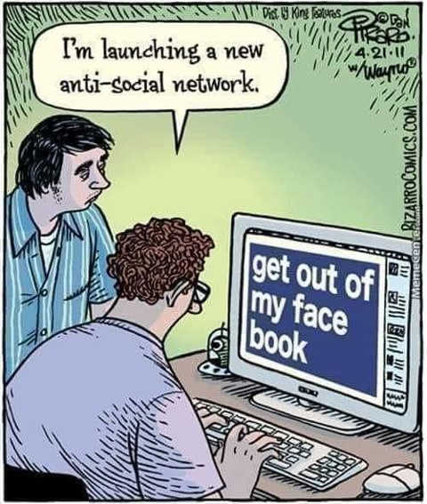 launching new anti social network get out of my face book