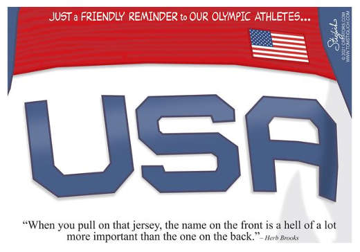 message usa olympics name on front more important than back