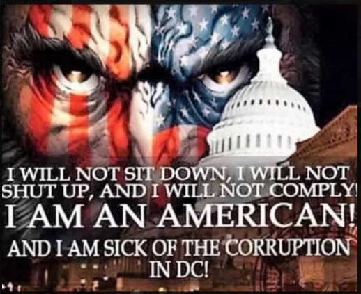 message wont sit down shut up comply i am american sick of corruption in dc