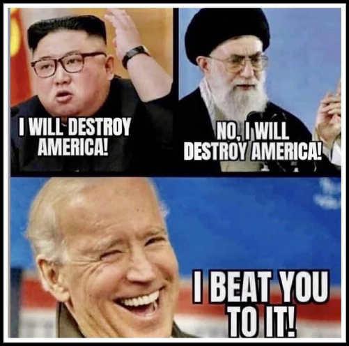 north korea iran destroy america joe biden beat you