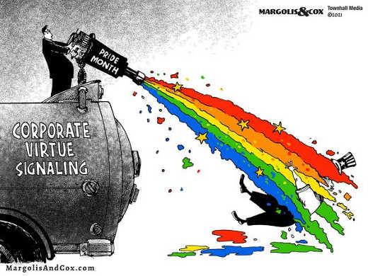 pride month corporate virtue signaling