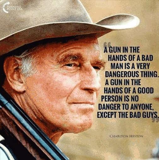 quote charles heston run hands bad man good person