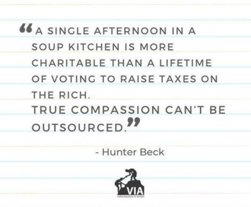 quote hunter beck single afternoon soup kitchen more charitable raise taxes vote