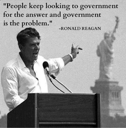 quote ronald reagan people answer government is problem