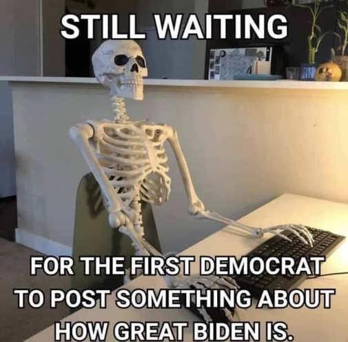 skeleton still waiting for democrat to post something great biden is