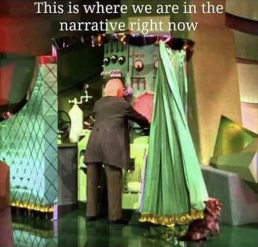 this is where we are now covid narrative wizard curtain