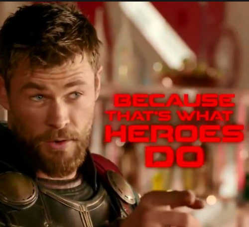 thor because thats what heroes do