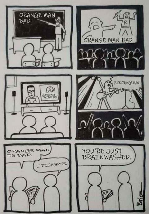 tv school movies music orange man bad disagree just brainwashed